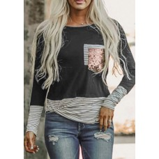 Believe Boutique Long Sleeve with Glitter Pocket