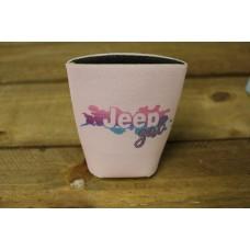 Jeep Girl Blush Koozie