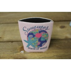 Summer State of Mind Dusty Rose Koozie